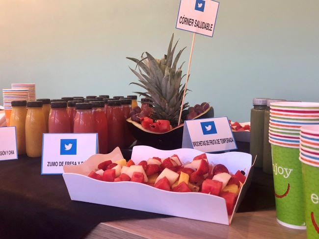 Desayuno de empresa Twitter catering de lisi