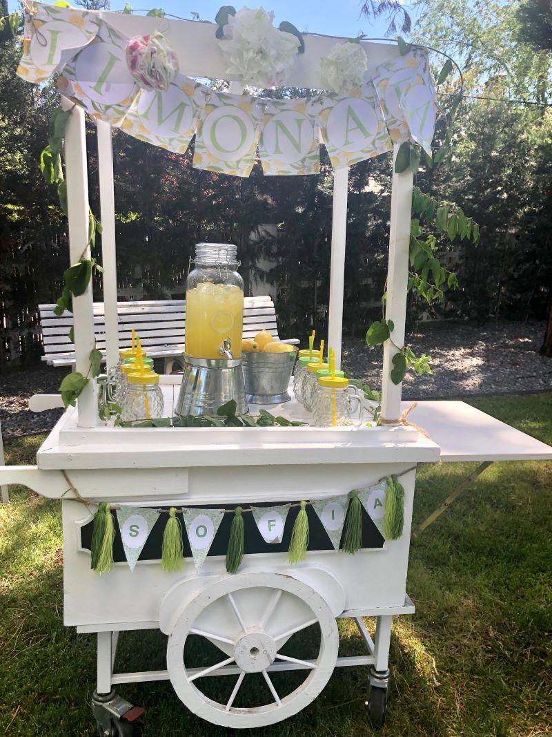 Carrito de limonada. Comuniones 2020