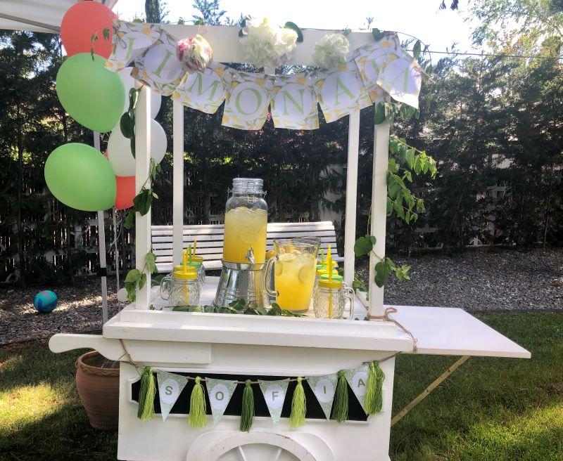 Carrito limonada bodas