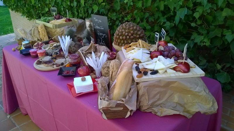 Mesa de quesos. Servicio extra bodas